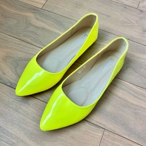 Neon Yellow Flats